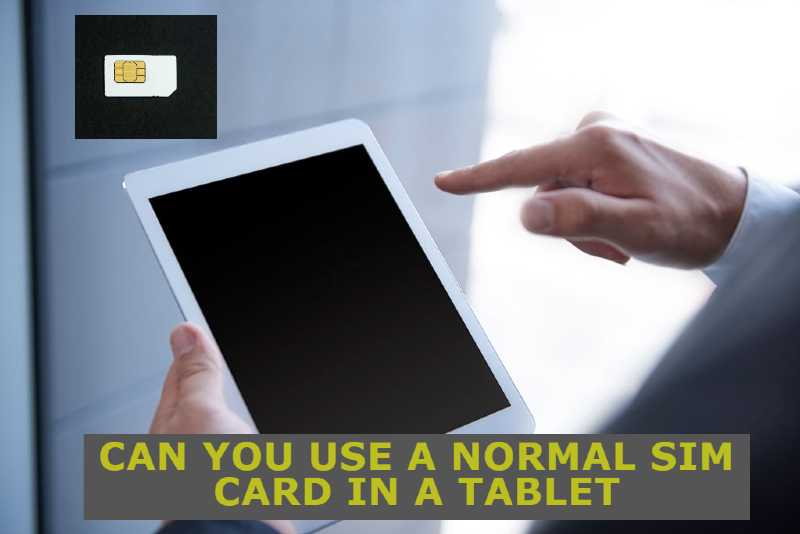 How to use tablet without sim card